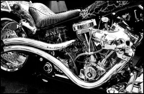 B & W motorcycle