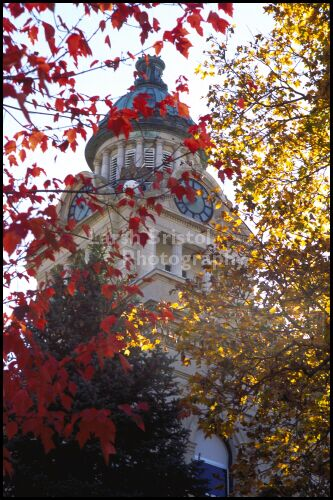 Capital Building With Fall Leaves