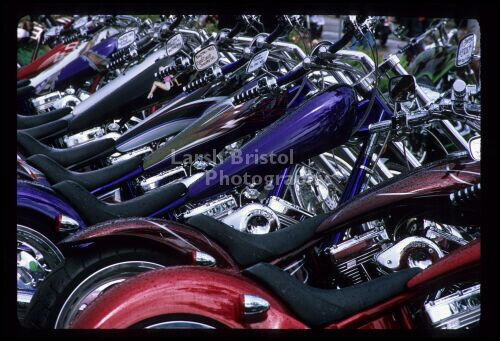 Line of Motorcycles