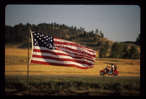 Fluttering Flag & Motorcycles