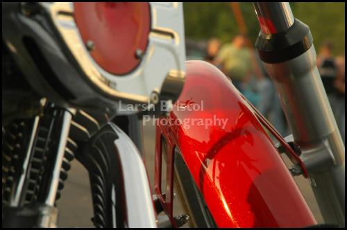 Red Motorcycle Close Up
