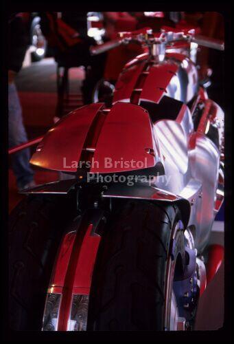 Red Motorcycle on Display - LBP20092