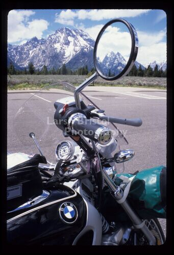 Motorcycle Mirror and Mountains - LBP20097