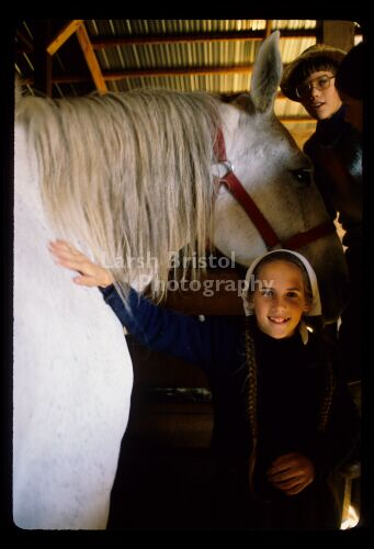 Mennonite Children with Horse