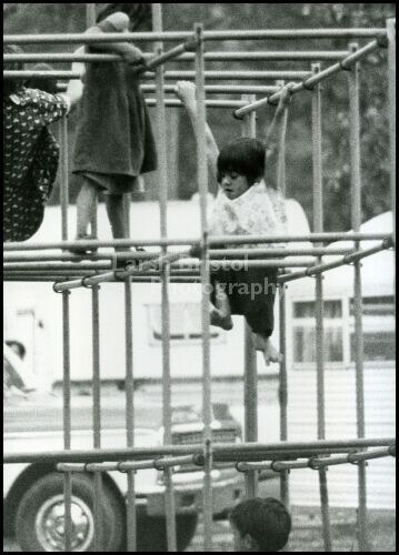 Blackhawk Gypsy Children Playing on Monkey Bars