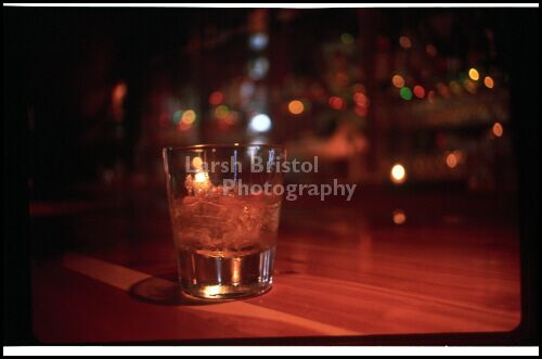Empty Drink on Bar