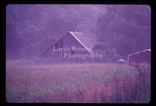 Old Weathered Barn in Fog