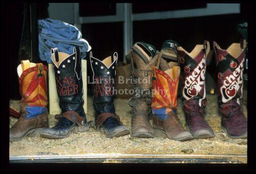 Several Cowboy Boots