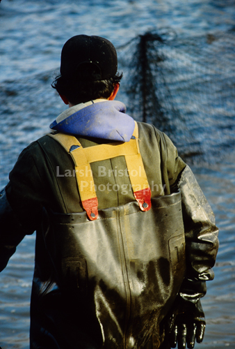 Back of Fisherman and Nets