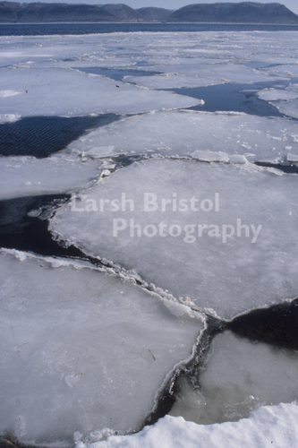 Sheets of Ice on the Mississippi